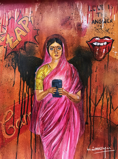 Lady with a Phone
